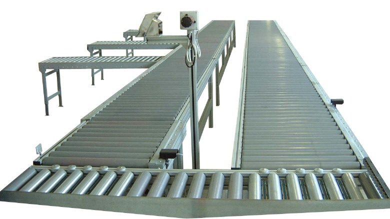 Motorized roller with scale and conveyor system
