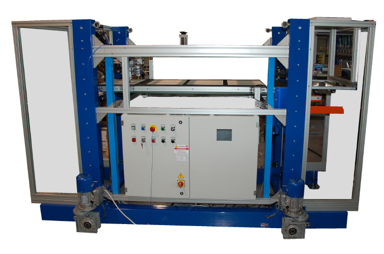 Automatic machine for cardboards labelling